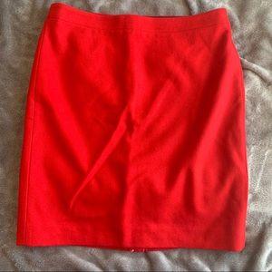 *NEW* Red J.Crew Wool Pencil Skirt